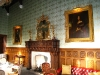 Photo of a fireplace in the dining room, Ashford Castle