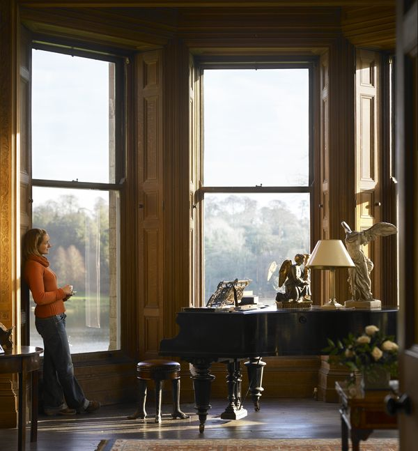 Photo of the piano in Castle Leslie